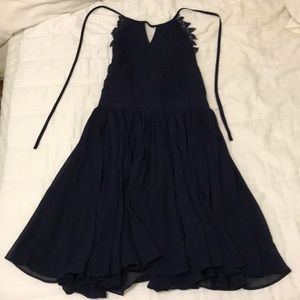 Navy open back party dress!